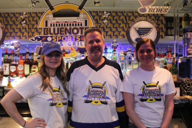 Ashly Melton, owner Tom Branneky and Chantel Davis of Bluenote Sports Bar and Grille. - CHERYL BAEHR