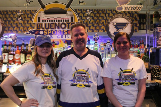 Ashly Melton, owner Tom Branneky and Chantel Davis of Bluenote Sports Bar and Grille. - CHERYL BAEHR