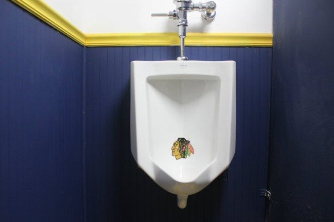 Guests at the Bluenote can take it all out on the Blackhawks. - CHERYL BAEHR