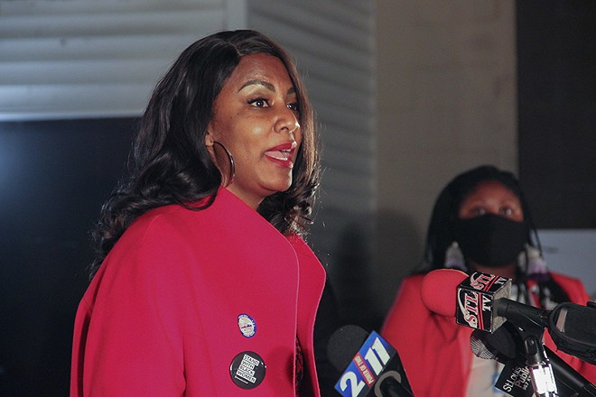 St. Louis Treasurer Tishaura Jones finished Tuesday's primary with 57% of approvals, a commanding win. - DANNY WICENTOWSKI