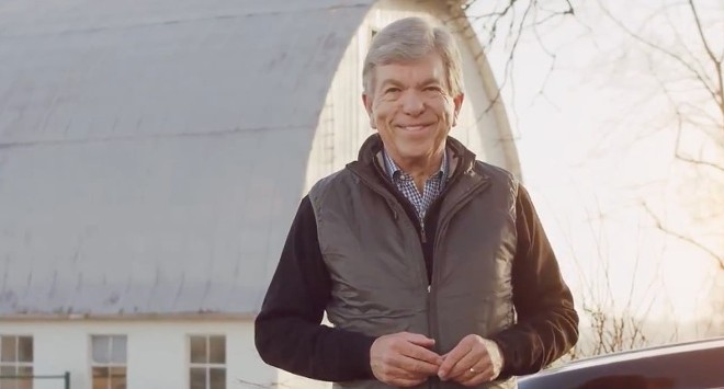U.S. Sen. Roy Blunt spoke in front of a dairy barn to announce he isn't running for re-election. - SCREENSHOT