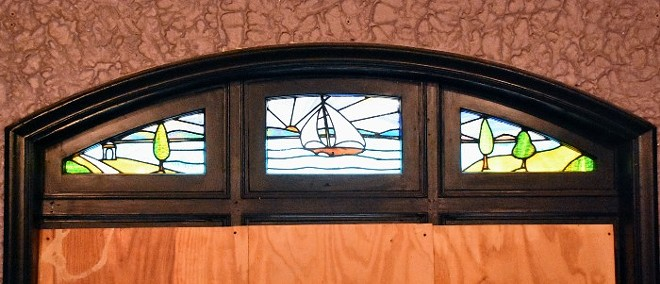 Stained-glass windows have survived. - DOYLE MURPHY