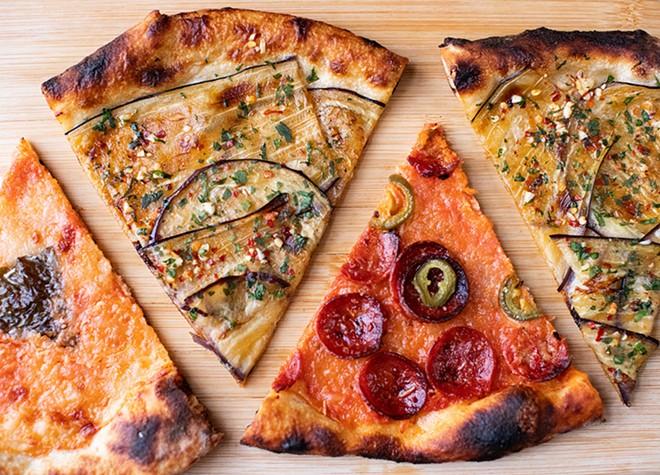 Bonci, pepperoni and margherita pizzas. - MABEL SUEN