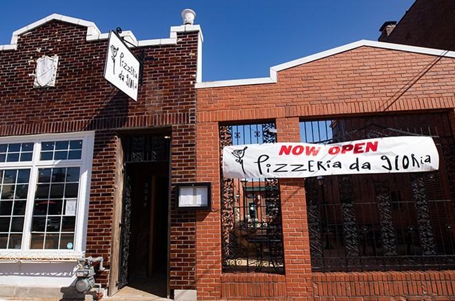 One day Pizzeria Da Gloria will host crowds, but its carryout only for now. - MABEL SUEN