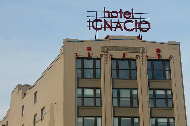 Hotel Ignacio, a SLU-owned hotel on Olive Boulevard, is now used for isolation housing for students exposed to COVID-19. - RILEY MACK