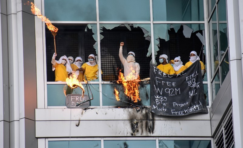 Inmates at the St. Louis City Justice Center staged a revolt in February. - DOYLE MURPHY