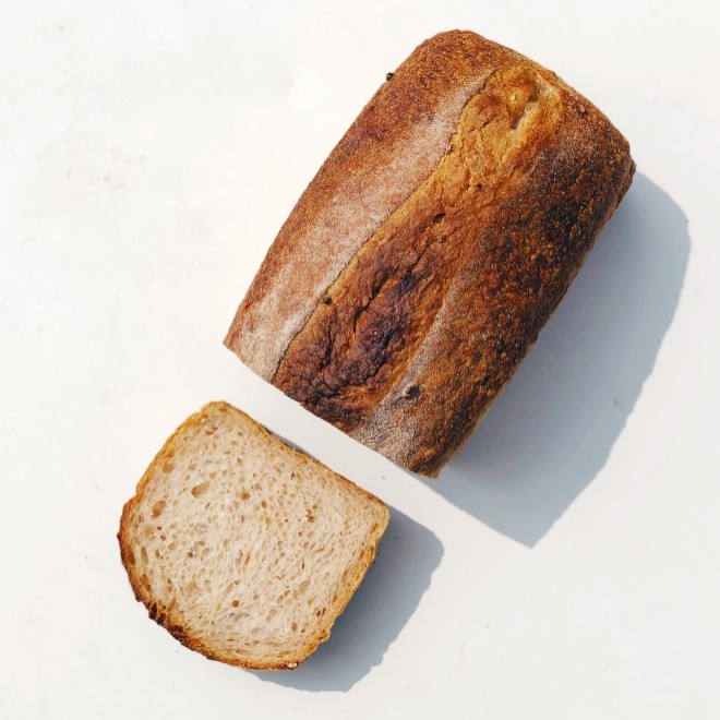 This lovely bread could come out of your home oven thanks to Knead's sourdough starter giveaway. - COURTESY OF KNEAD BAKEHOUSE