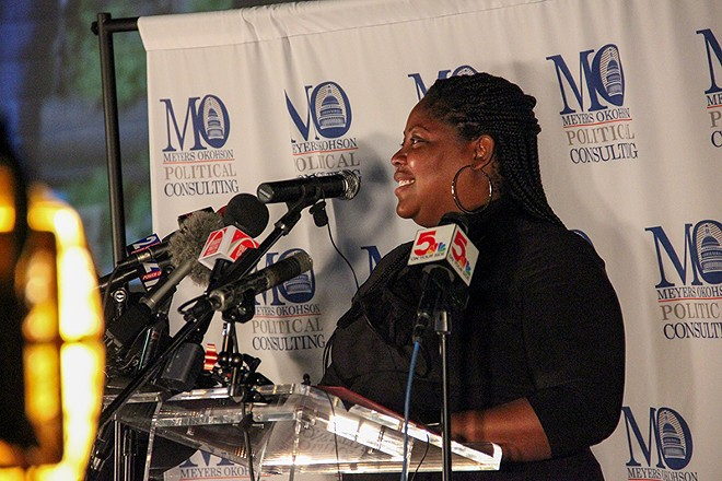 Jones campaign manager Rosetta Okohson. - DANNY WICENTOWSKI