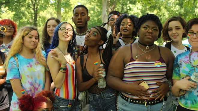 People gathered at Tower Grove Pride in 2019. - KATIE COUNTS