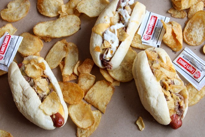 The Lion's Choice x Steve's Hot Dogs Home Run Hot Dog is a celebration of St. Louis. - COURTESY OF JASPER PAUL PR