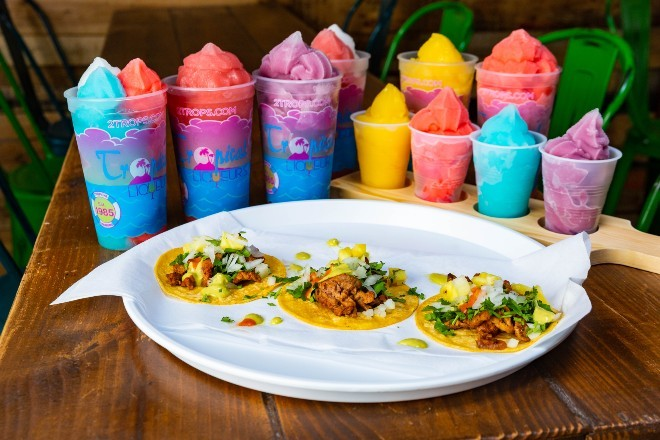 Taco Circus and Trops join forces for a lively Tex-Mex-slushie experience this Spring in the Grove. - COURTESY OF TROPICAL LIQUEURS