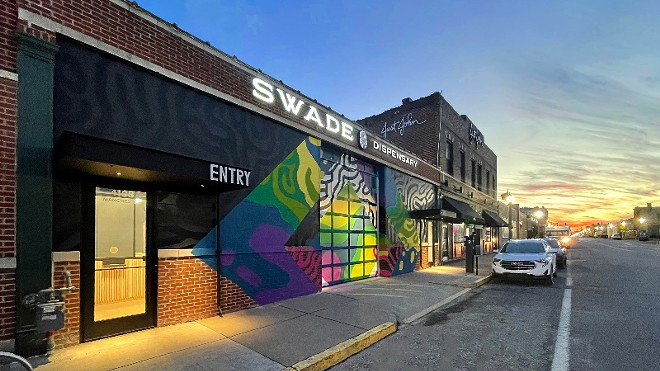 Swade's colorful new location fits in well in the Grove neighborhood. - VIA SWADE CANNABIS