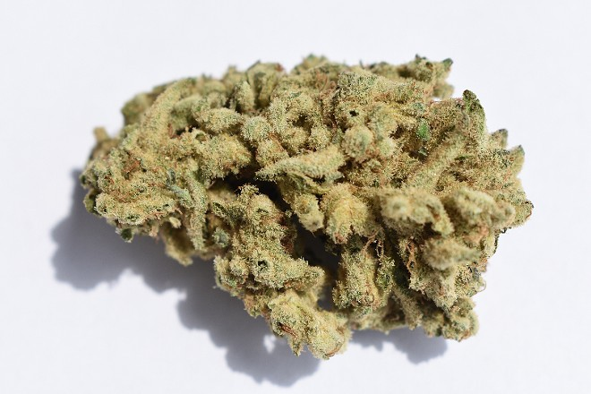 """Sinse's""""Miracle Alien Cookies"""" hybrid, purchased at the Grove location of Swade Cannabis. - TOMMY CHIMS"""