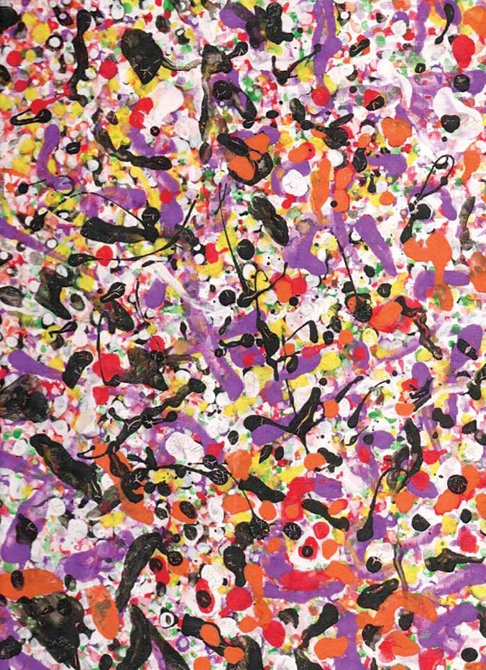 Acrylic painting on canvas, Henry Shimabukuro, 2020. - COURTESY SHIMABUKURO FAMILY