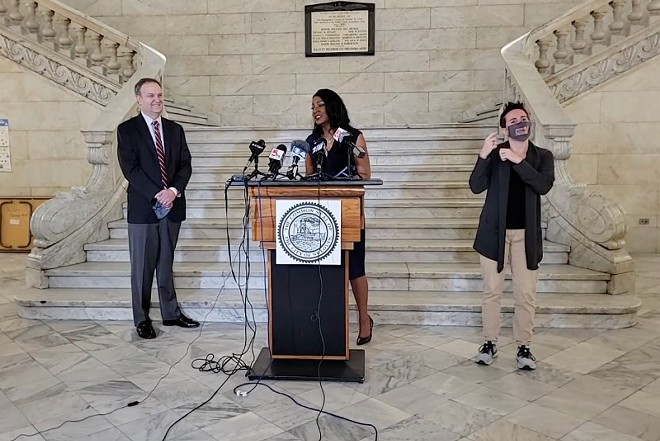 St. Louis County Executive Sam Page and St. Louis Mayor Tishaura Jones announced the end of mask mandates for vaccinated people. - SCREENSHOT/FACEBOOK LIVE