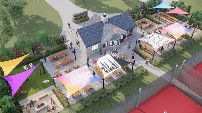 The new Rockwell Beer Garden will be a community gathering spot in St. Louis Hills' Francis Park - COMPLIMENTS OF ROCKWELL BEER CO.