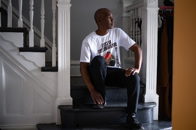 Antoine Bufford poses for a portrait at his home on May 16, 2021, in St. Louis. - MICHAEL B. THOMAS FOR THE INTERCEPT