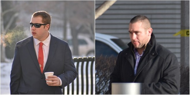 Christopher Myers and Dustin Boone are headed for Round 2 in the Luther Hall case. - DOYLE MURPHY