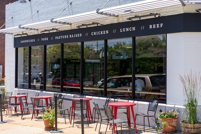 The new outdoor patio at Bolyard's Meat & Provisions. - HOLDEN HINDES