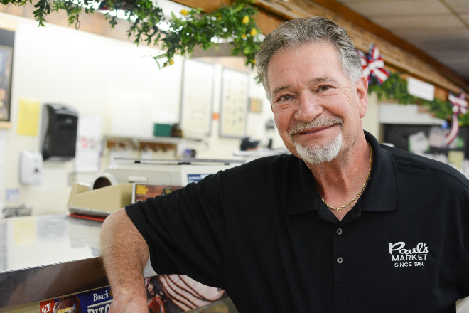 Gary Crump carry's on his father legacy as the proprietor of Paul's Market. - ANDY PAULISSEN
