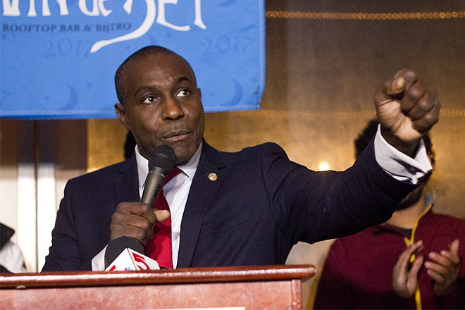 Board of Aldermen President Lewis Reed's proposed spending $153 million of the direct relief funds. - DANNY WICENTOWSKI