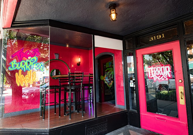 Terror Tacos transformed the old Baida storefront on South Grand. - MABEL SUEN