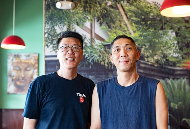 Manager Alu Sun and chef-owner Calvin Koong. - MABEL SUEN