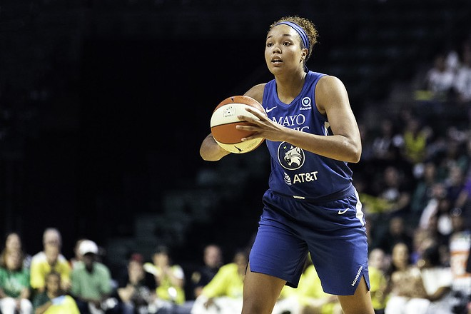 Napheesa Collier, from St. Charles, plays basketball for the Minnesota Lynx and will now play for Team USA in the five by five event. -  LORRIE SHAULL / FLICKR