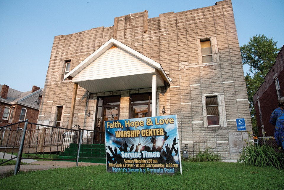 Faith, Hope and Love Worship Center is Pastor Pam's home base, but she's often out in the neighborhoods. - ERIN MCAFEE