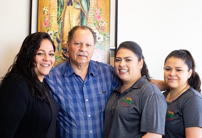 Bertha Lopez, Miguel Lopez, Angelica Lopez and Yesenia Lopez. - MABEL SUEN