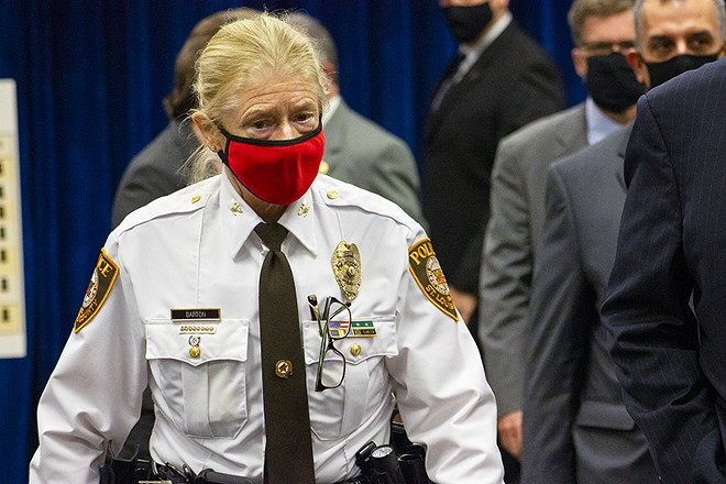 St. Louis County police chief Mary Barton is out. - DANNY WICENTOWSKI