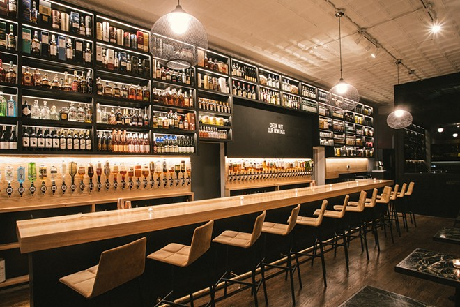 The bar at Brennan's has always had a huge selection of spirits. - R.J. HARTBECK