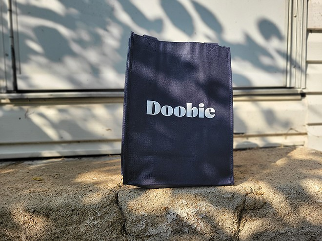 A Doobie bag of delivered cannabis goodies from Jane Dispensary. - DANNY WICENTOWSKI