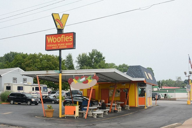 Woofie's has been serving authentic Chicago-style Vienna beef dogs for decades. - ANDY PAULISSEN