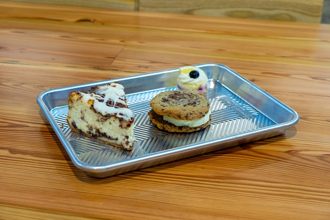 Patty's Cheesecakes offers sweet treats for food hall-goers. - HOLDEN HINDES