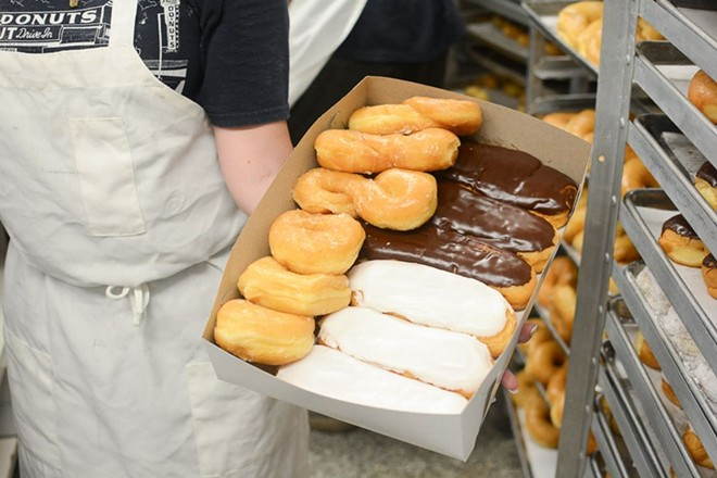 Long johns and glazed twists are some of the most popular items at Donut Drive-In. - ANDY PAULISSEN