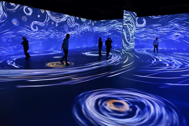Just a liiiittle bit longer until we can hop into some paintings. - COURTESY BEYOND VAN GOGH: THE IMMERSIVE EXPERIENCE