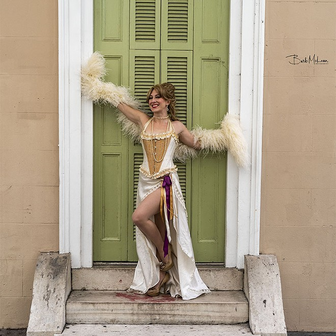 Lola Van Ella left her mark on St. Louis burlesque — now she's hoping the city can come to the aid of hurricane-devastated New Orleans. - BARB MCLEAN/COURTESY OF LOLA VAN ELLA