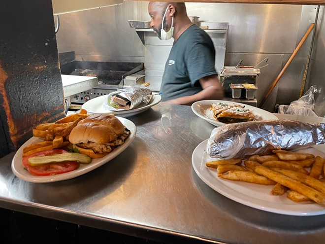 American comfort food shares the menu with Greek classics. - ANDY PAULISSEN