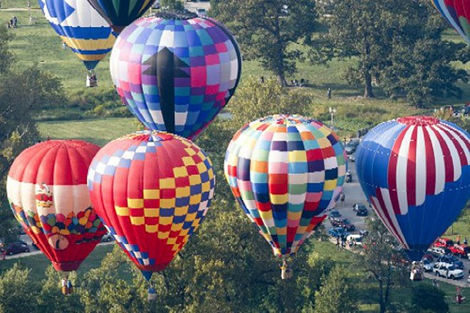 Hot air balloons from years past. - COURTESY GREAT FOREST PARK BALLOON RACE