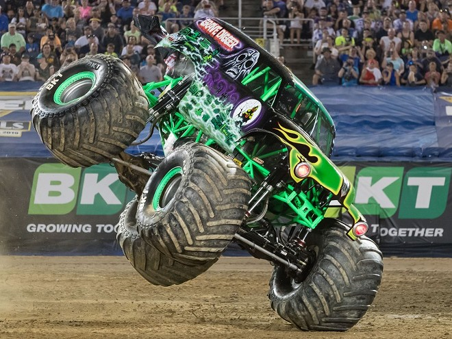 Grave Digger is just one of twelve trucks headed to town in January. - COURTESY SALLIE PALMIERI REGO / FELD ENTERTAINMENT