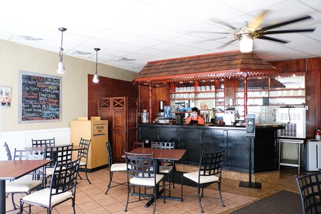 The dining room at CC's Vegan Spot. - PHUONG BUI