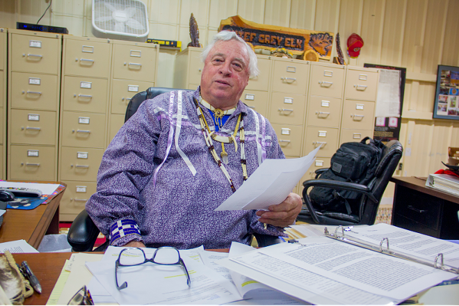 """Kenn """"Grey Elk"""" Descombes, chief of the Northern Cherokee Nation, maintains that his tribe is """"just as much"""" a minority as federally recognized Cherokee groups. - DANNY WICENTOWSKI"""