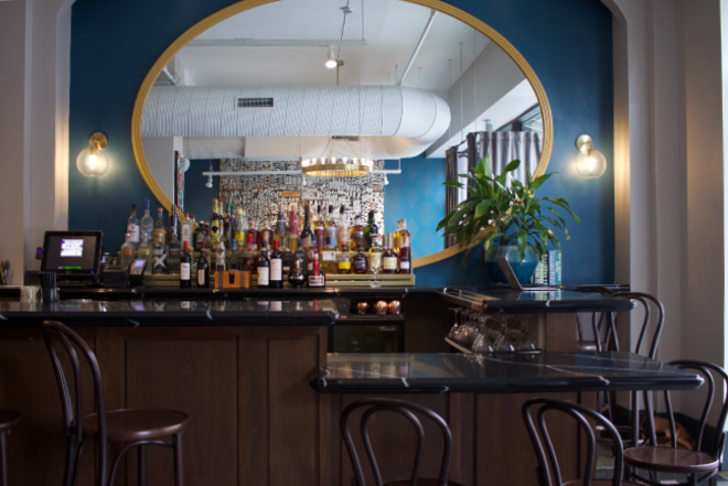 The bar at Commonwealth serves cocktails as inventive as the food. - CHERYL BAEHR