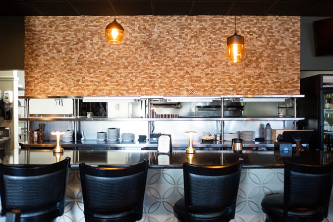 The bar at Timothy's The Restaurant. - PHUONG BUI