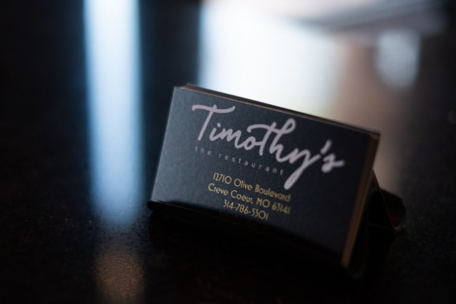 Timothy's The Restaurant is now open in Creve Coeur. - PHUONG BUI