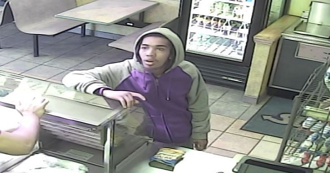 St. Louis police are searching for this man after a Subway robbery. - IMAGE VIA ST. LOUIS METROPOLITAN POLICE