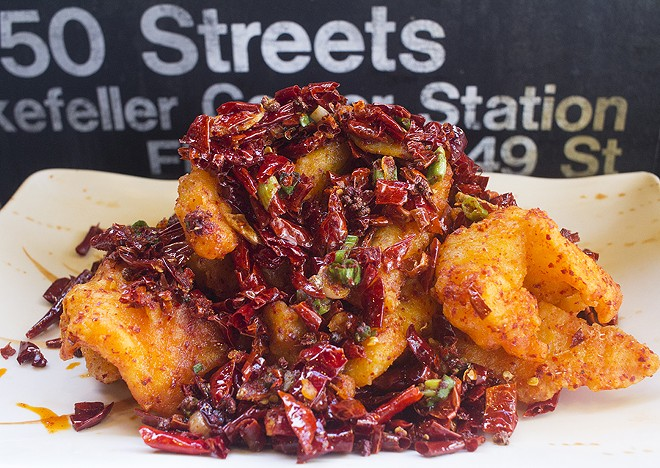 """Hot Crisp Fish"" is as good, and as spicy, as it looks. - PHOTO BY MABEL SUEN"