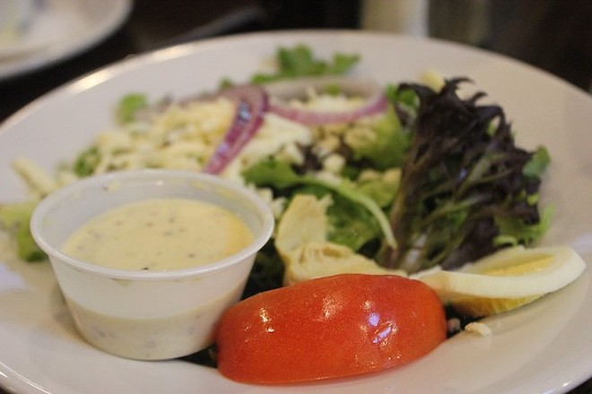 Mayfair dressing tops the salad at St. Louis-themed Circa STL. - PHOTO BY SARAH FENSKE