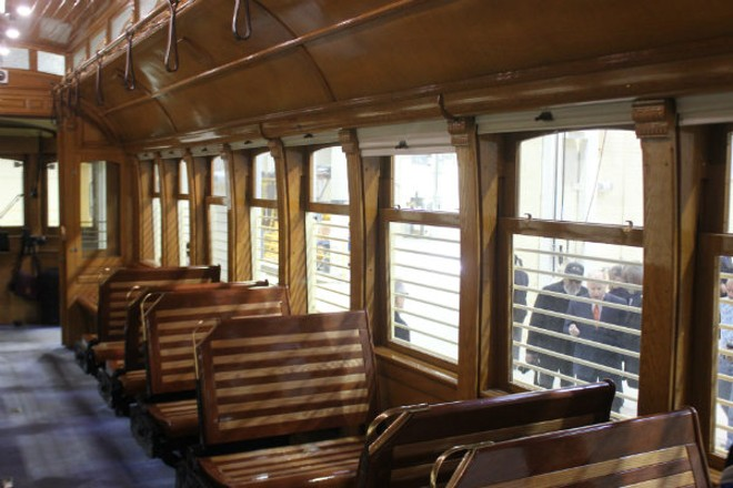Trolleys from Portland have been refurbished for the St. Louis project. - PHOTO BY SARAH FENSKE